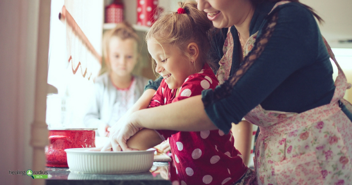 family making easy health and delicious holiday treats