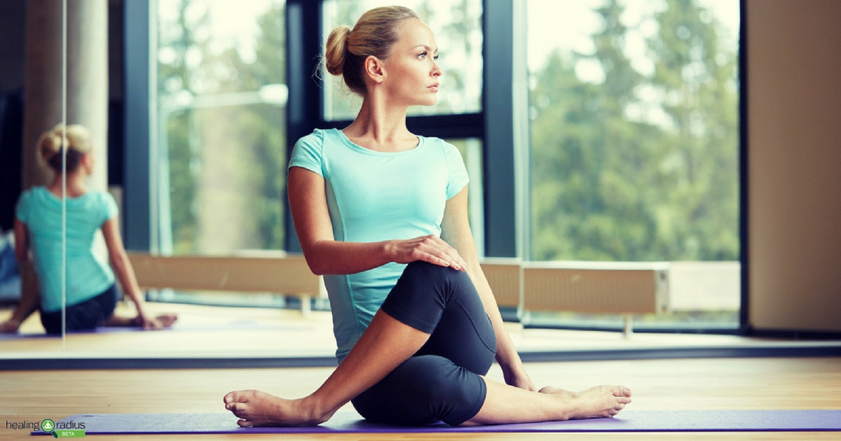 Millennial Woman Practicing Yoga from YouTube Channels
