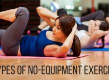 5 types of no equipment exercises