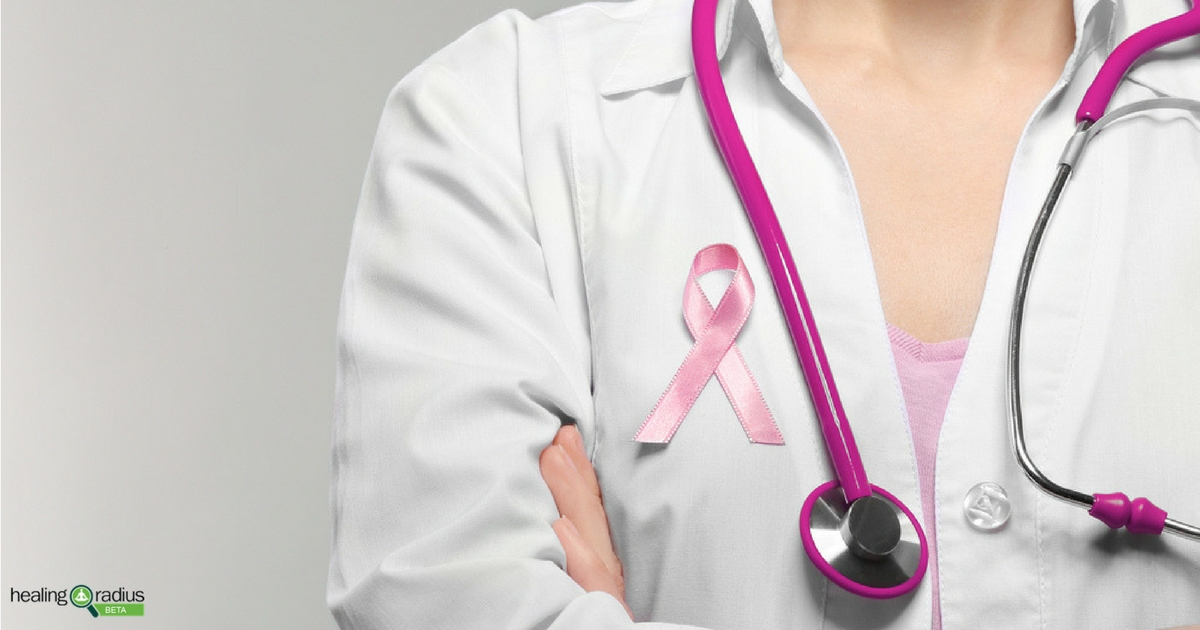 Doctor educating individuals about breast cancer prevention and awareness