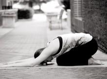 yoga pose childs pose