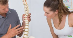 Doctor explaining chiropractic care