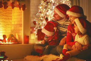 Family keep calm and happy holidays
