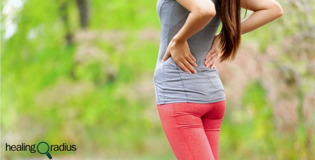woman running with back pain
