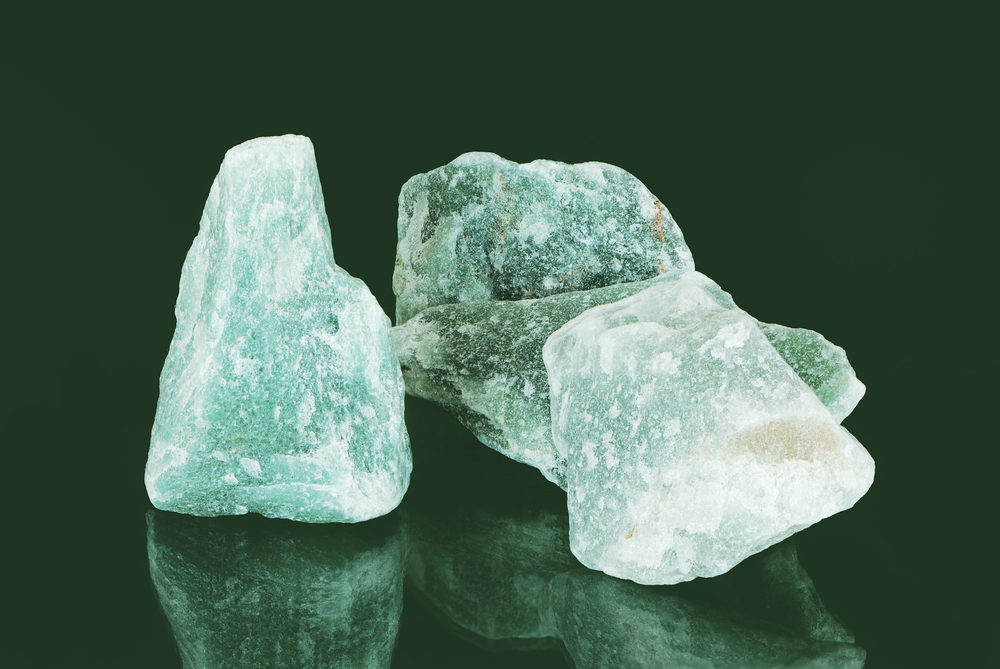 Unpolished Green Aventurine Crystals