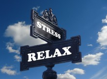 stress and relax street signs