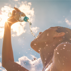 Stay hydrated while working out in the heat
