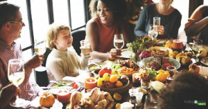 Family passionate about health and wellness at Thanksgiving dinner