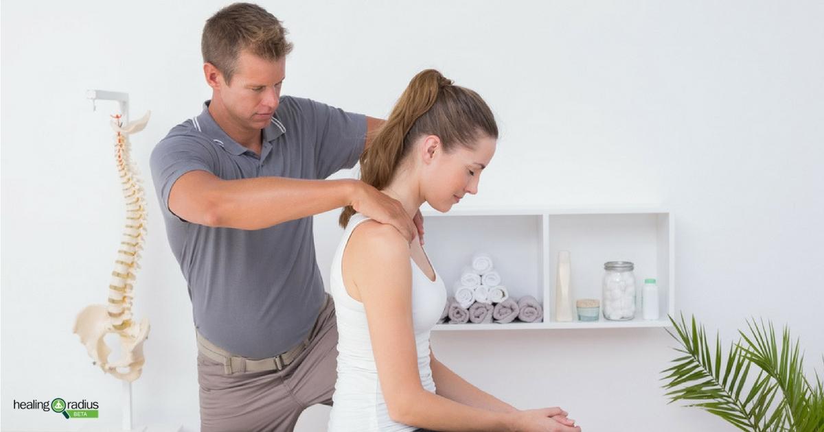 Client receiving chiropractic care