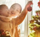 Mother and Child enjoying a simple holiday season